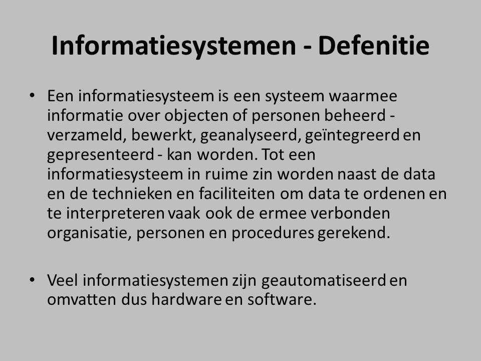 Informatiesystemen - Defenitie
