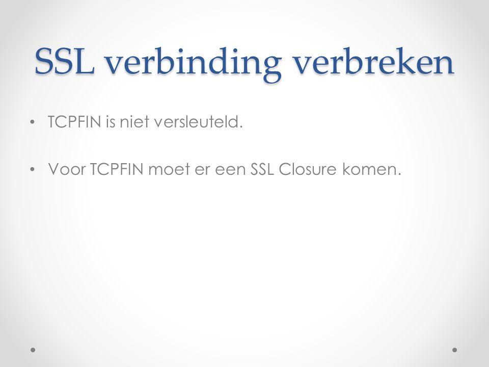 SSL verbinding verbreken