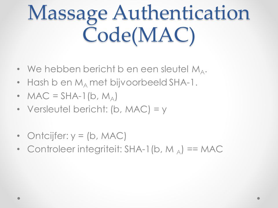 Massage Authentication Code(MAC)