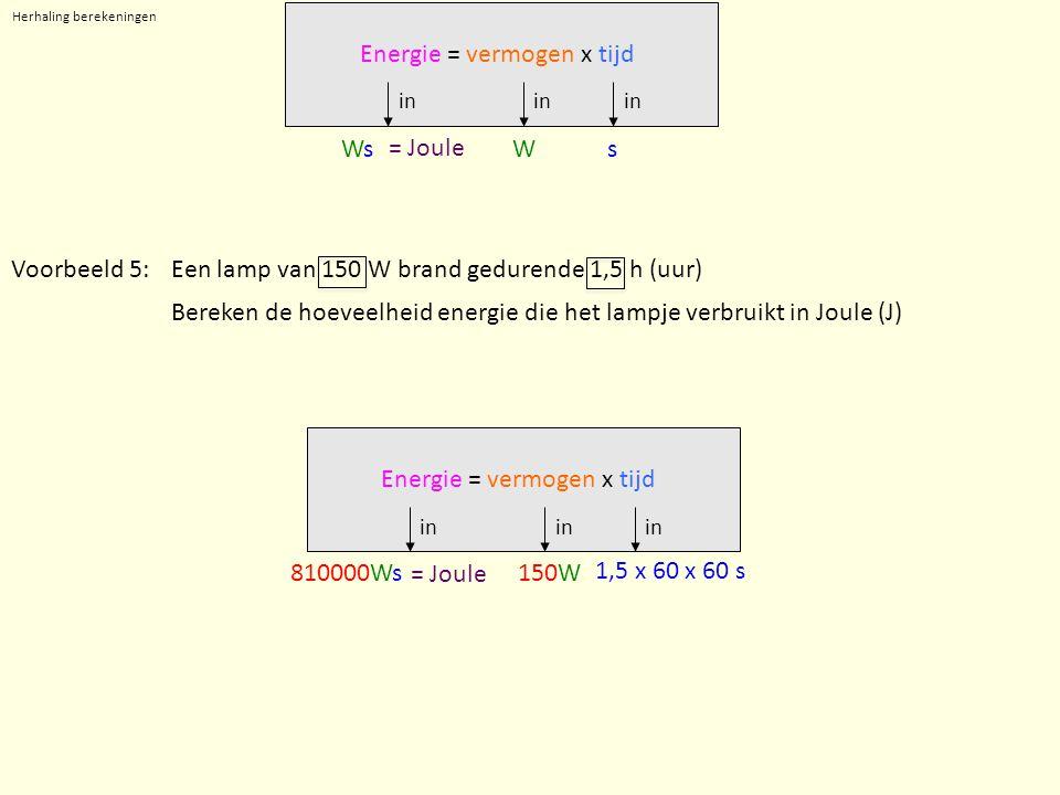 Herhaling berekeningen