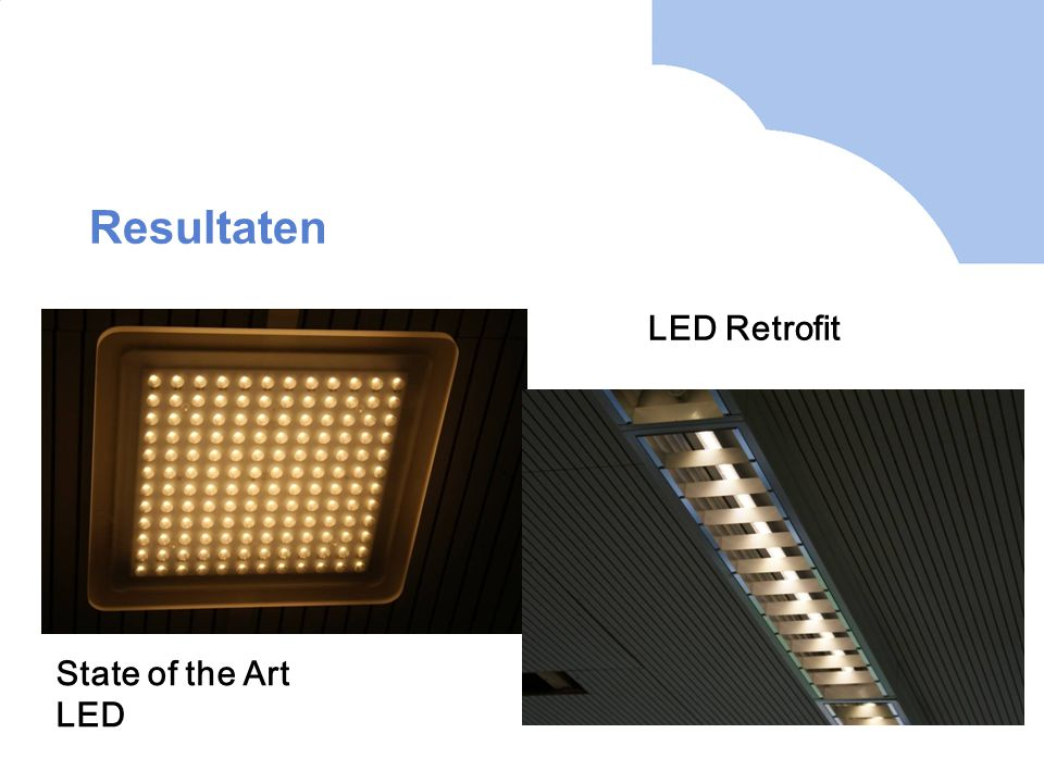 Resultaten LED Retrofit State of the Art LED