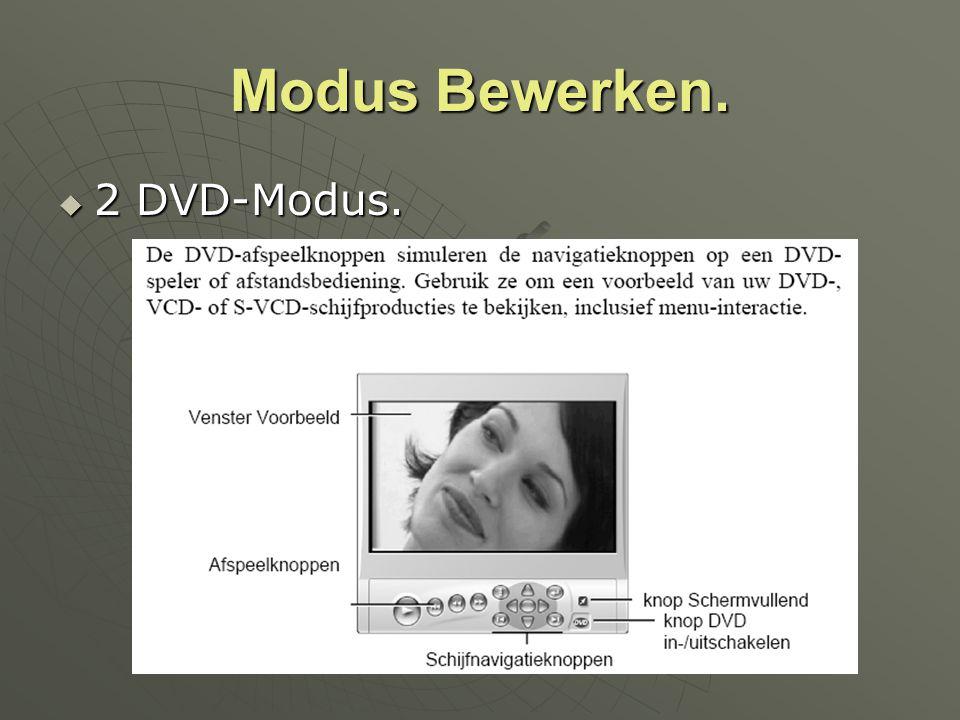 Modus Bewerken. 2 DVD-Modus.