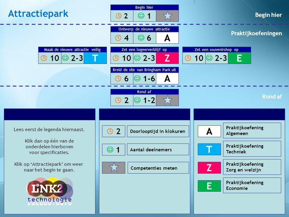 Attractiepark A T Z E A A  1  4  6  10  2-3  10  2-3  10  2-3