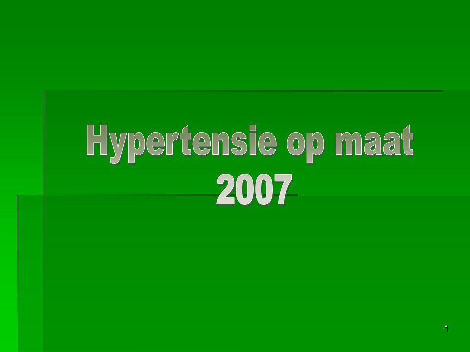 Hypertensie op maat 2007