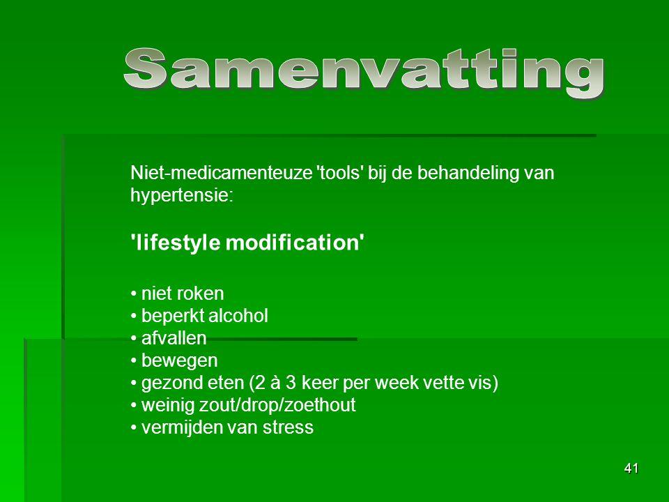 Samenvatting lifestyle modification