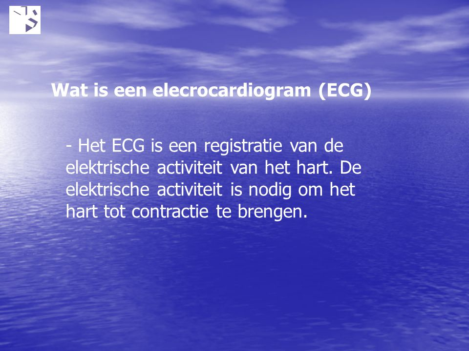 Wat is een elecrocardiogram (ECG)