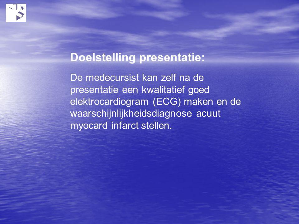 Doelstelling presentatie: