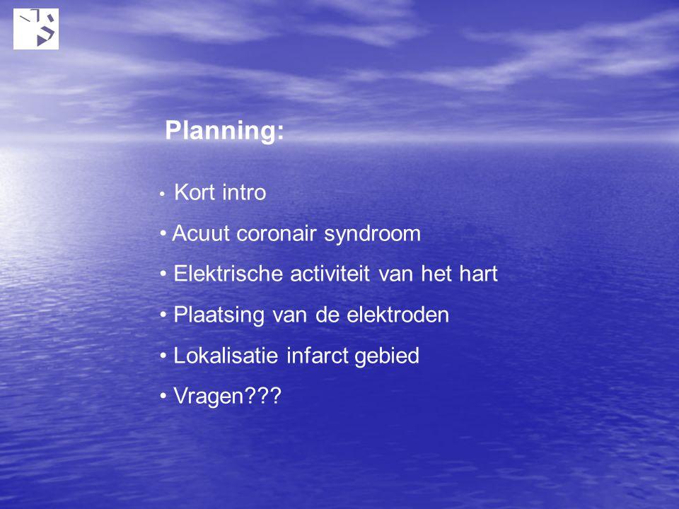 Planning: Acuut coronair syndroom Elektrische activiteit van het hart