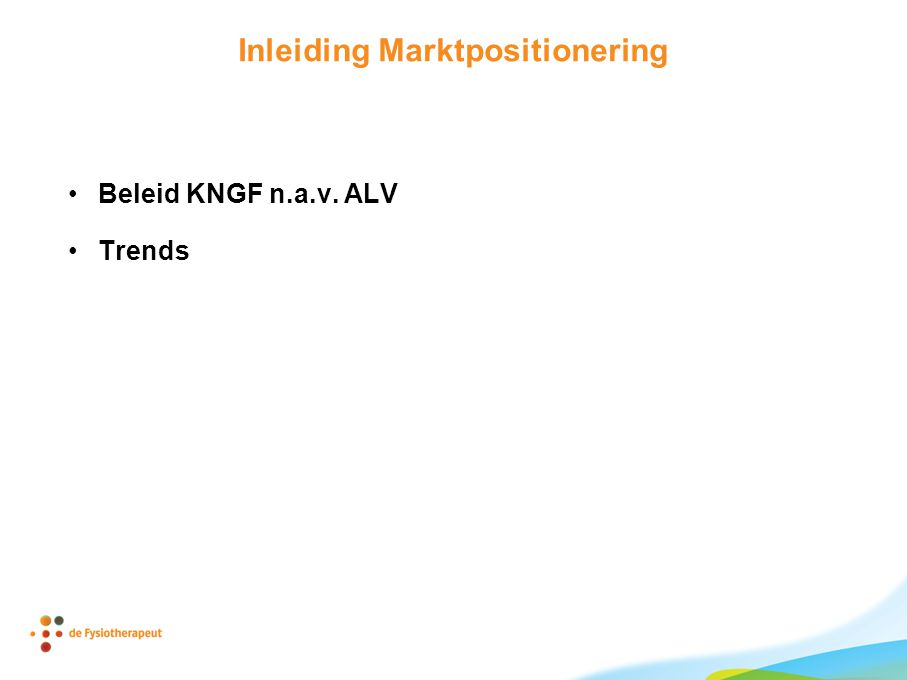 Inleiding Marktpositionering