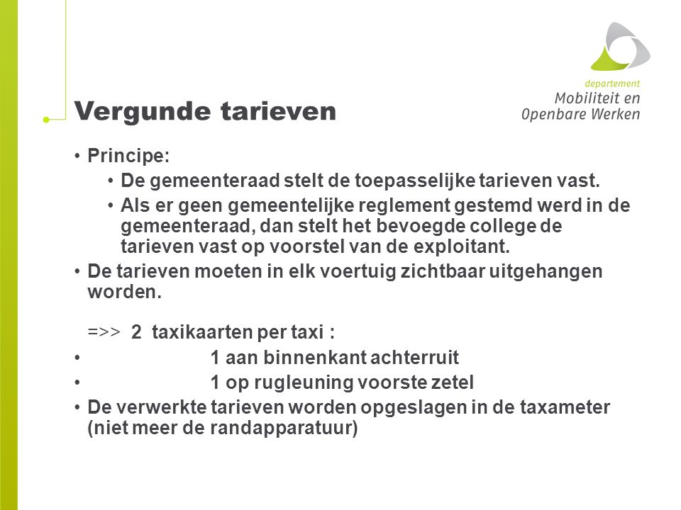 Vergunde tarieven Principe: