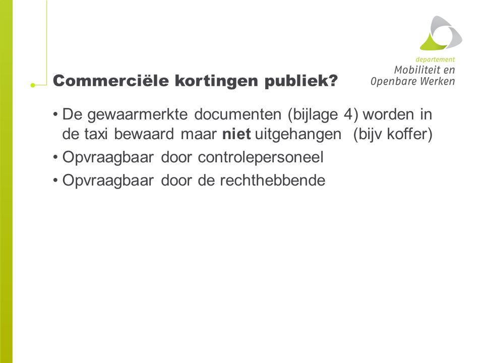 Commerciële kortingen publiek