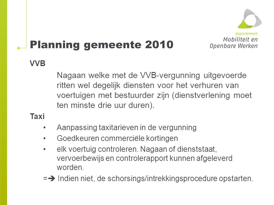 Planning gemeente 2010 VVB.