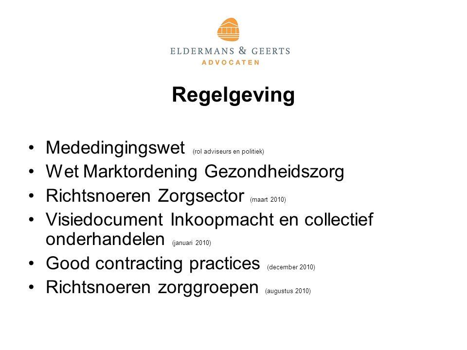 Regelgeving Mededingingswet (rol adviseurs en politiek)
