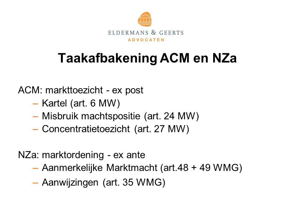 Taakafbakening ACM en NZa
