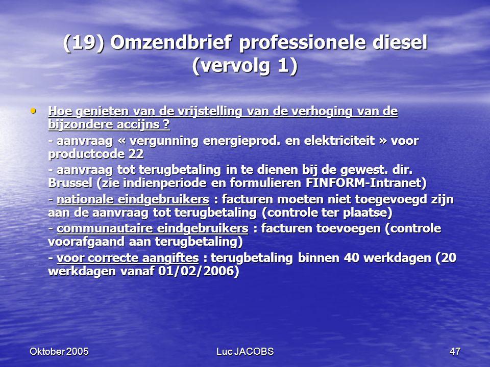 (19) Omzendbrief professionele diesel (vervolg 1)
