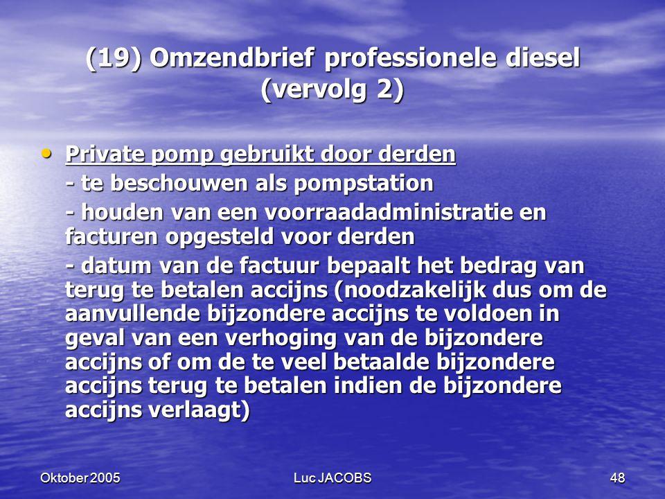 (19) Omzendbrief professionele diesel (vervolg 2)