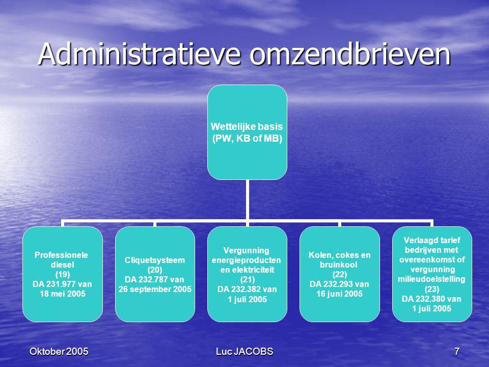 Administratieve omzendbrieven