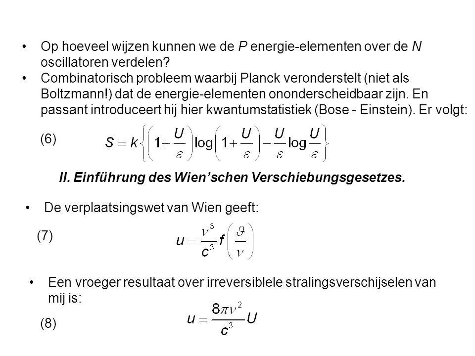 Op hoeveel wijzen kunnen we de P energie-elementen over de N oscillatoren verdelen