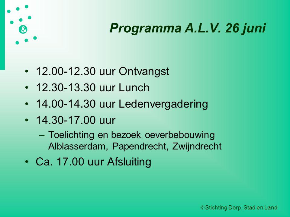 Programma A.L.V. 26 juni 12.00-12.30 uur Ontvangst
