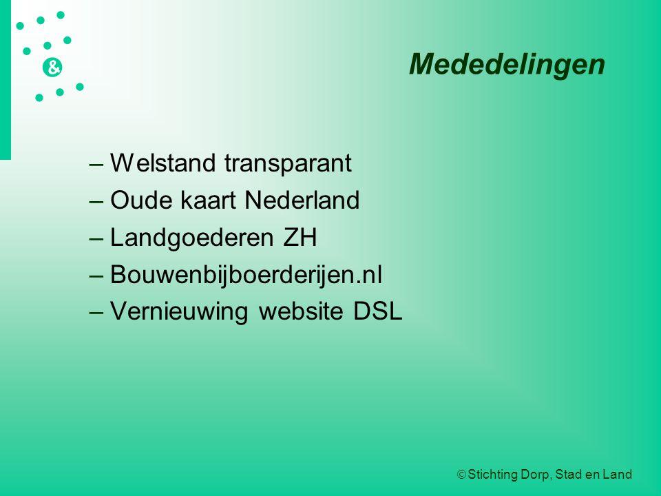 Mededelingen Welstand transparant Oude kaart Nederland Landgoederen ZH