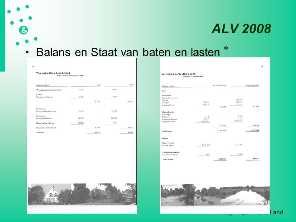 ALV 2008 * Balans en Staat van baten en lasten