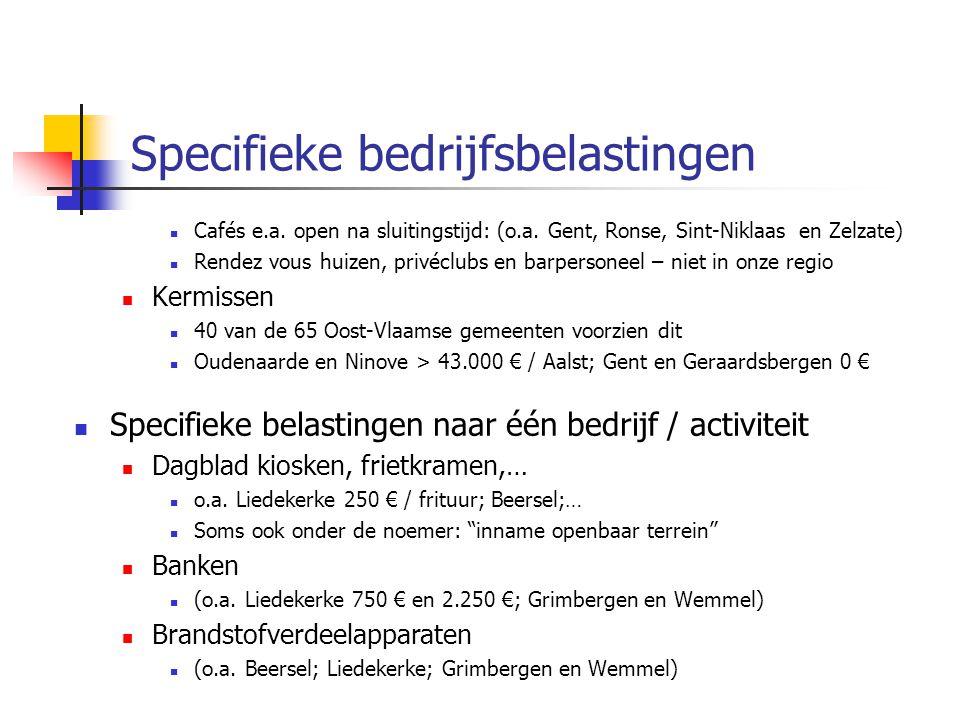 Specifieke bedrijfsbelastingen