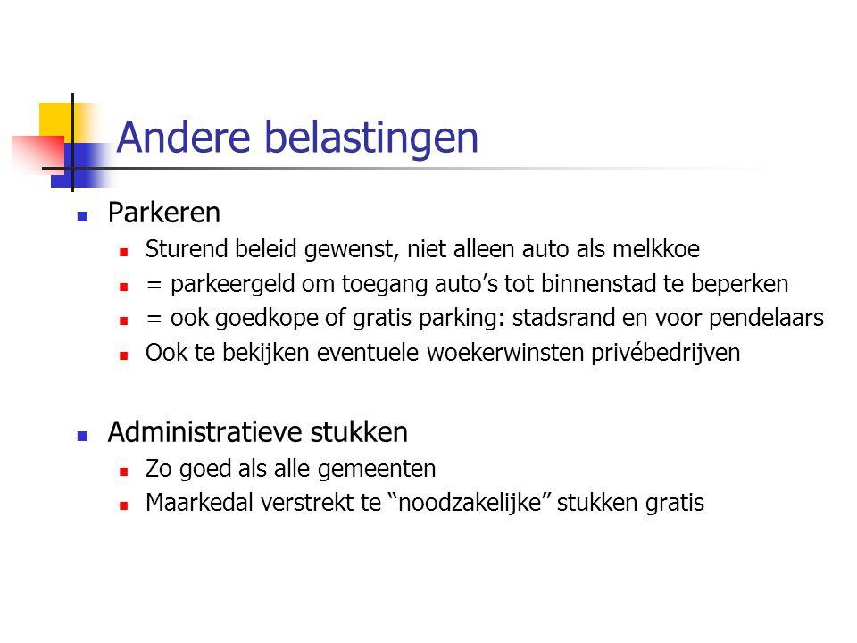 Andere belastingen Parkeren Administratieve stukken