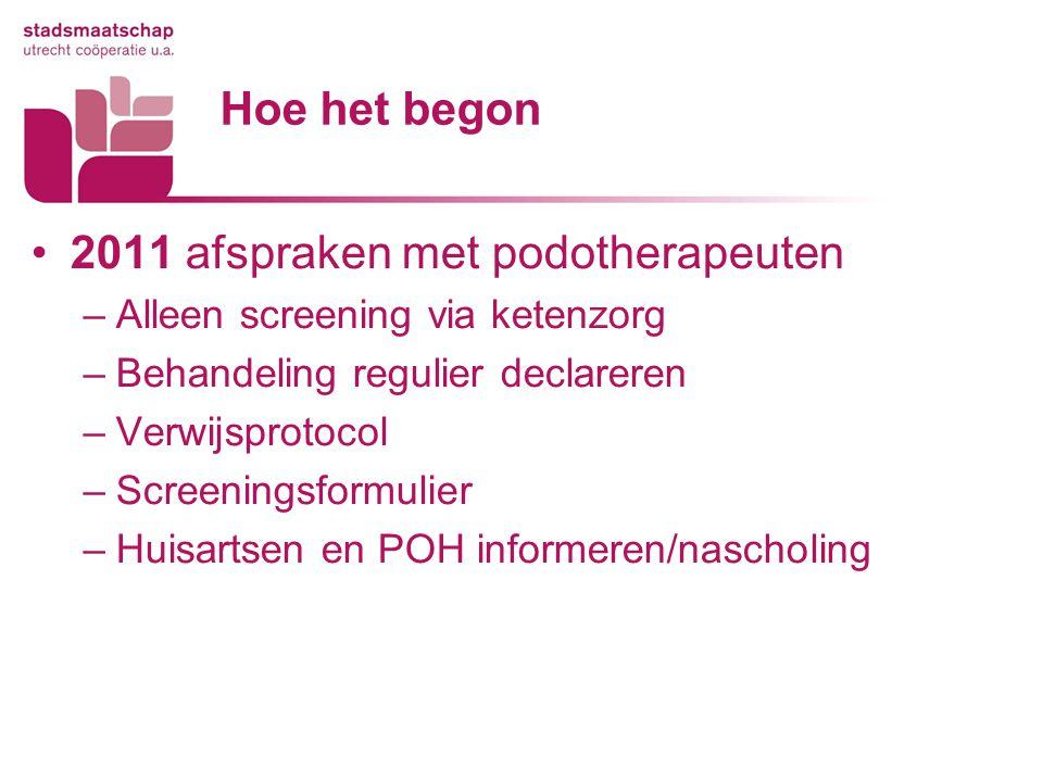 2011 afspraken met podotherapeuten