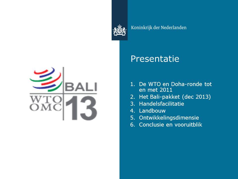 Presentatie De WTO en Doha-ronde tot en met 2011
