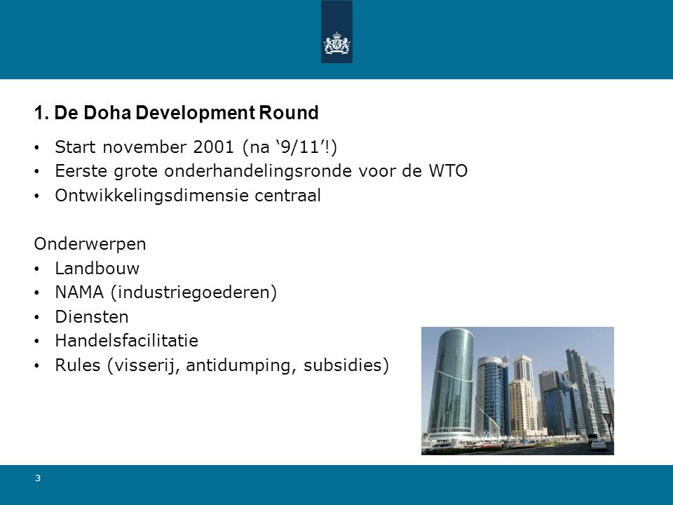 1. De Doha Development Round