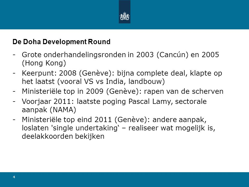 De Doha Development Round