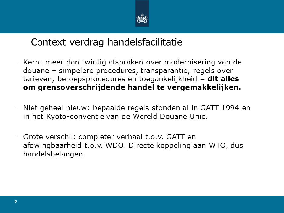 Context verdrag handelsfacilitatie