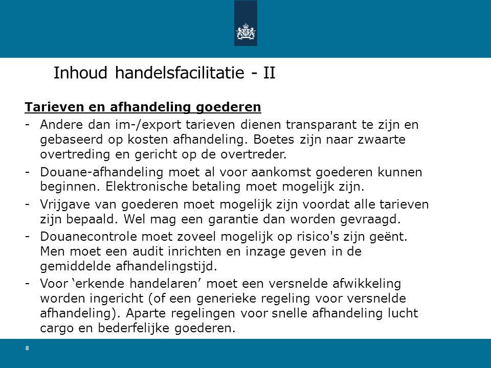 Inhoud handelsfacilitatie - II
