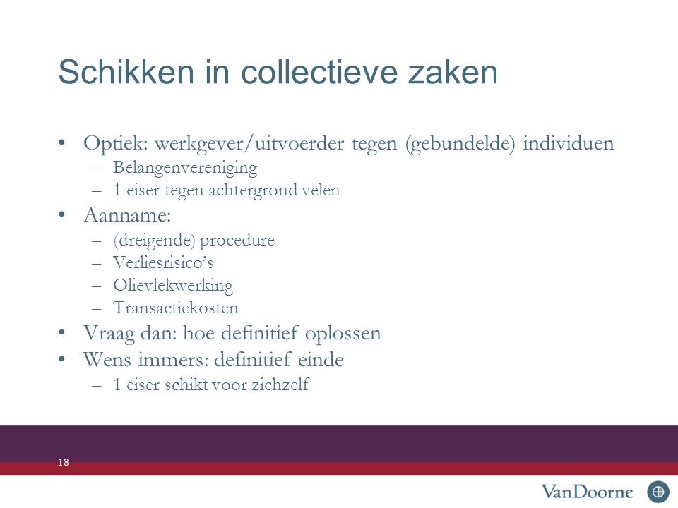 Schikken in collectieve zaken