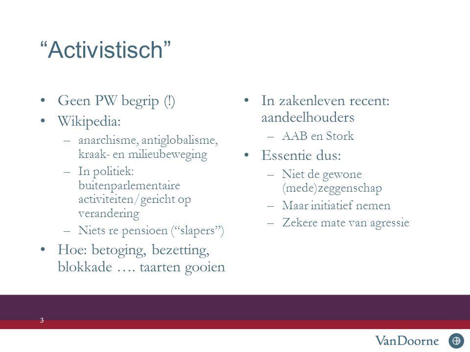 Activistisch Geen PW begrip (!) Wikipedia: