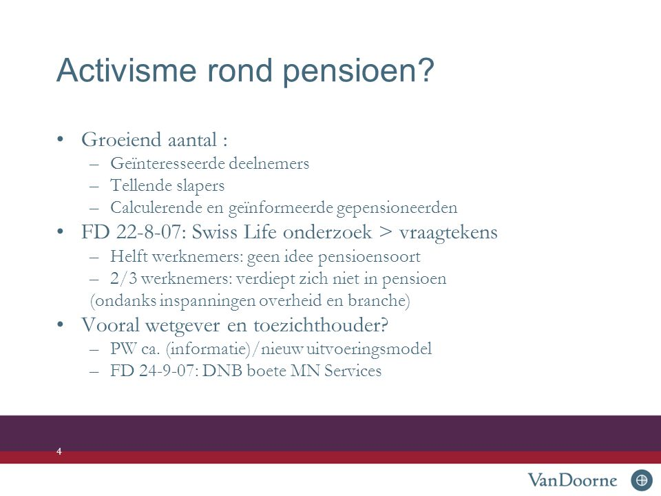 Activisme rond pensioen