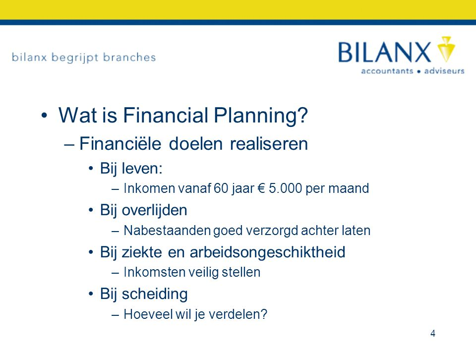 Wat is Financial Planning