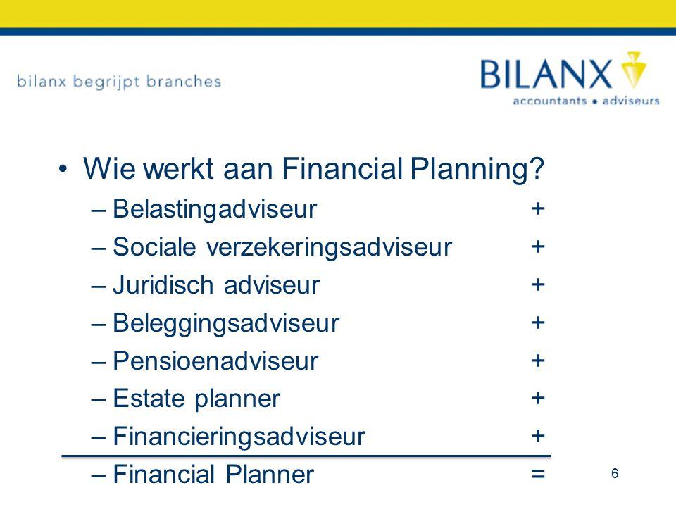 Wie werkt aan Financial Planning