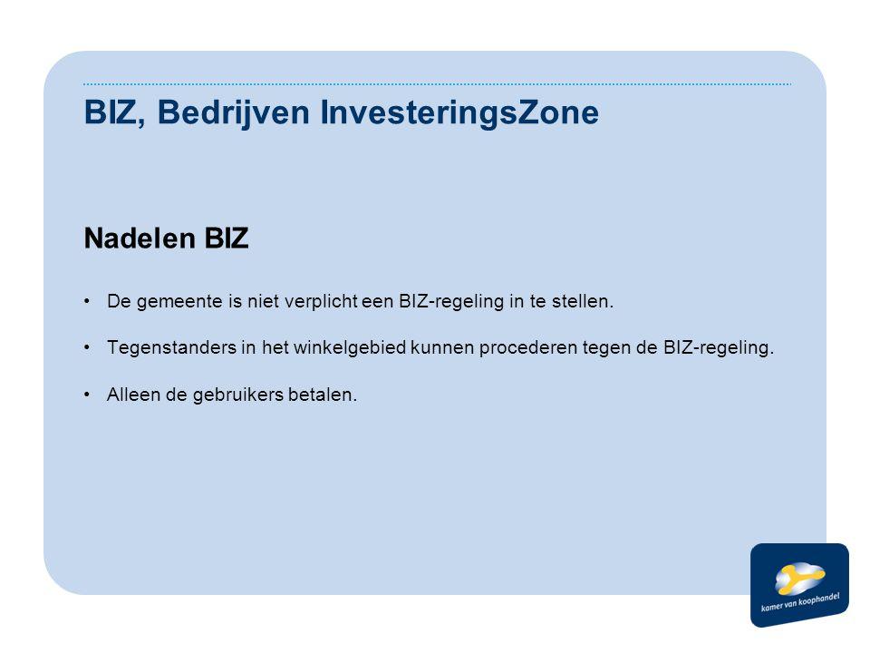 BIZ, Bedrijven InvesteringsZone