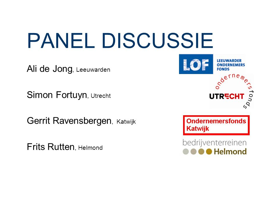 PANEL DISCUSSIE Ali de Jong, Leeuwarden Simon Fortuyn, Utrecht