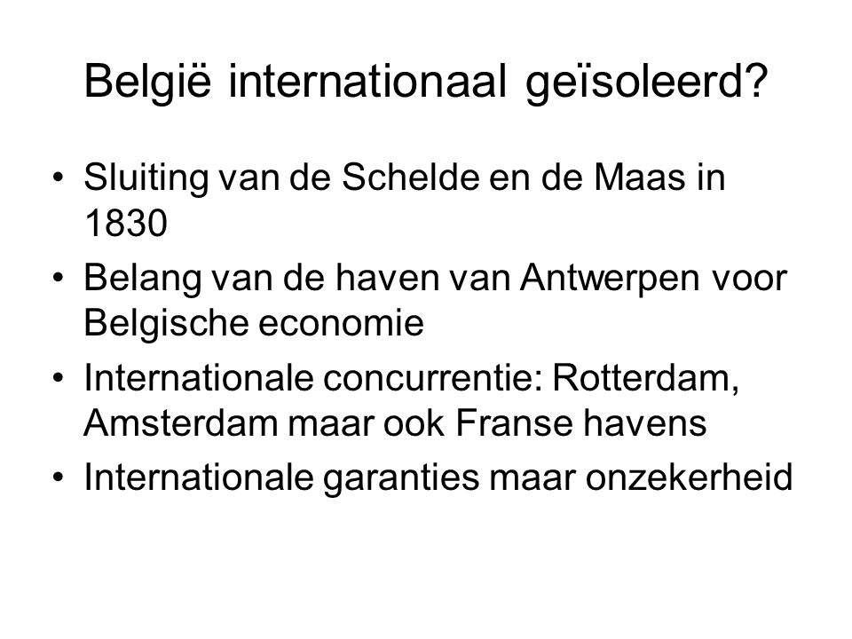 België internationaal geïsoleerd