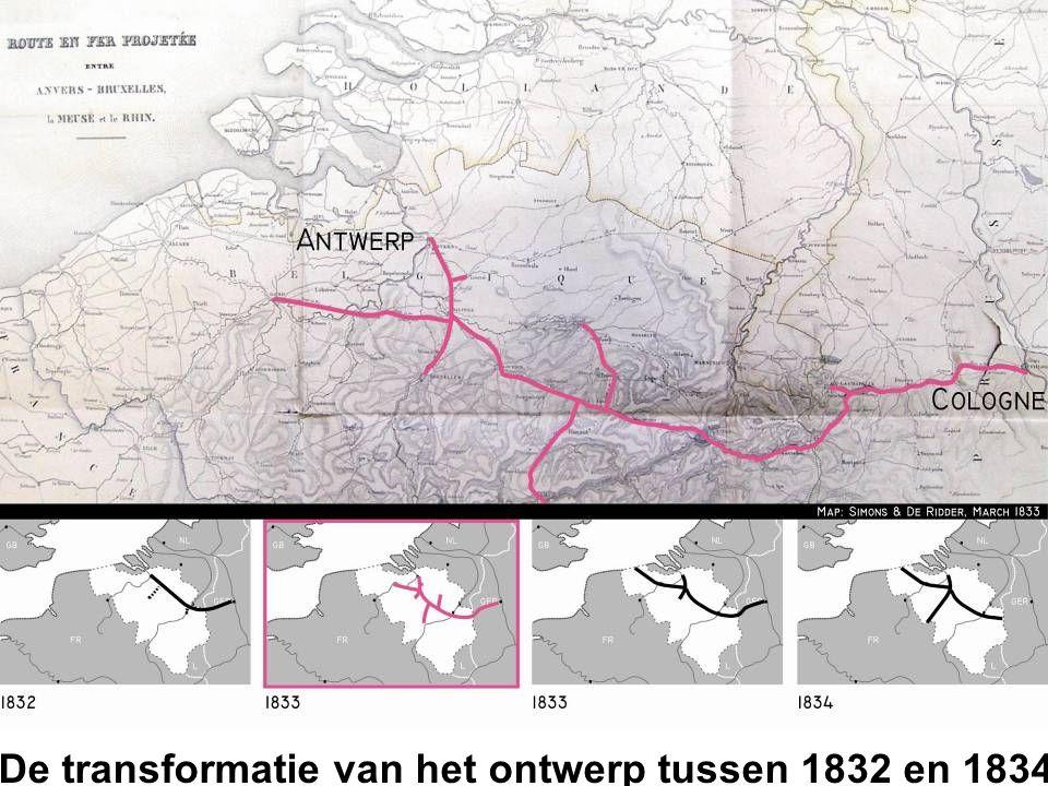 De transformatie van het ontwerp tussen 1832 en 1834