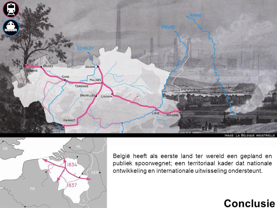 België heeft als eerste land ter wereld een gepland en publiek spoorwegnet; een territoriaal kader dat nationale ontwikkeling en internationale uitwisseling ondersteunt.