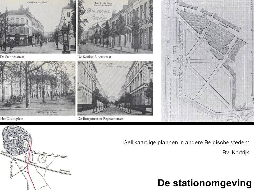 De stationomgeving Gelijkaardige plannen in andere Belgische steden: