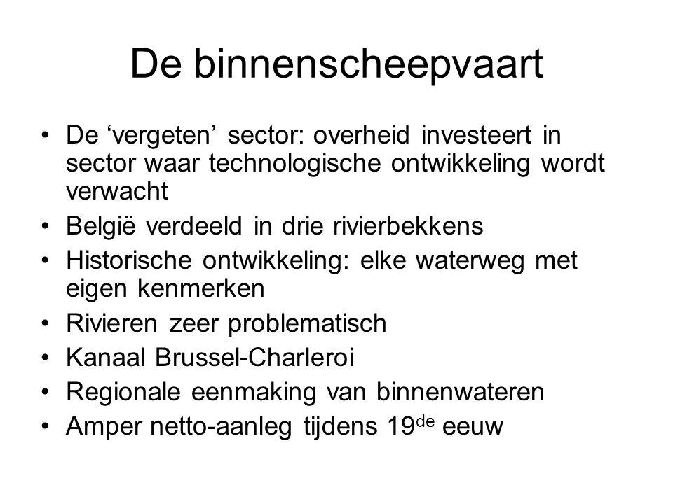 De binnenscheepvaart De 'vergeten' sector: overheid investeert in sector waar technologische ontwikkeling wordt verwacht.