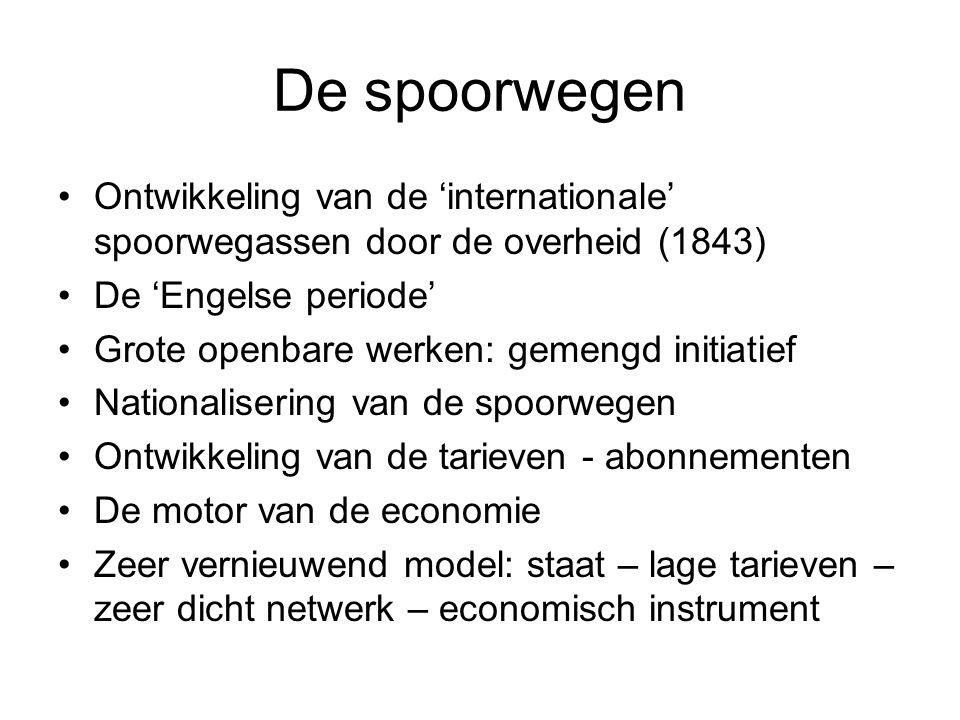 De spoorwegen Ontwikkeling van de 'internationale' spoorwegassen door de overheid (1843) De 'Engelse periode'
