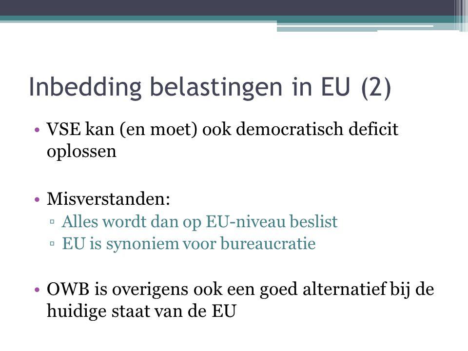 Inbedding belastingen in EU (2)