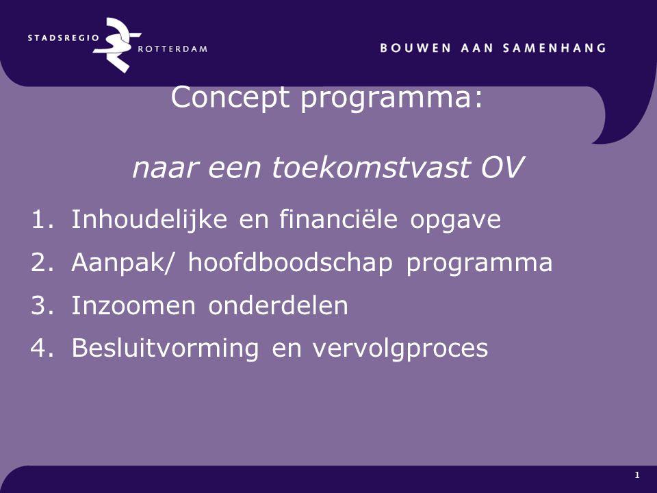 Concept programma: naar een toekomstvast OV