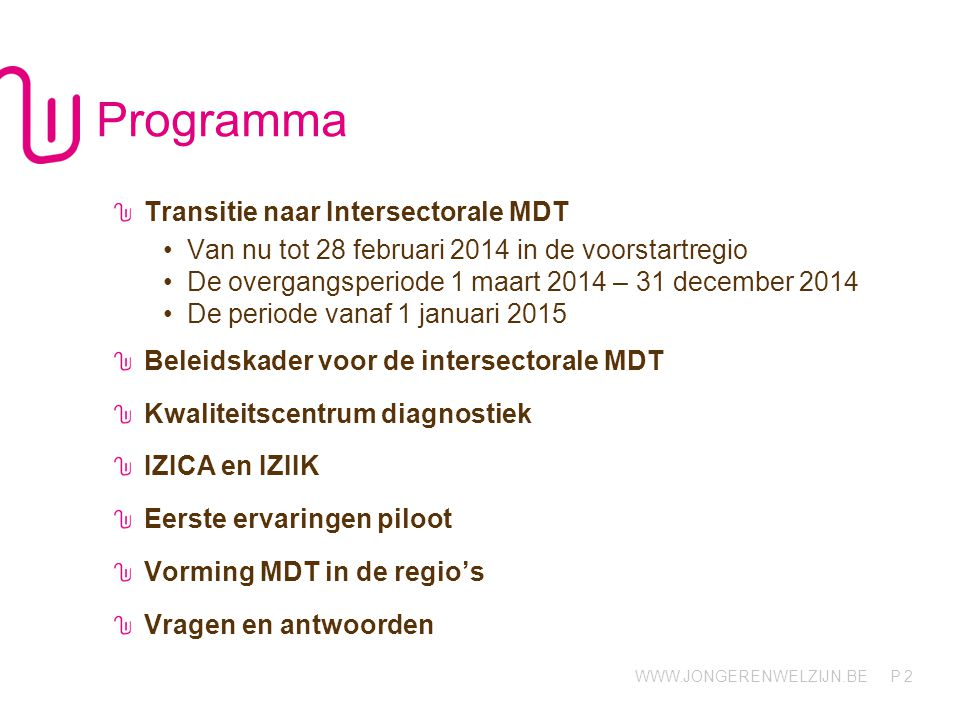 Programma Transitie naar Intersectorale MDT