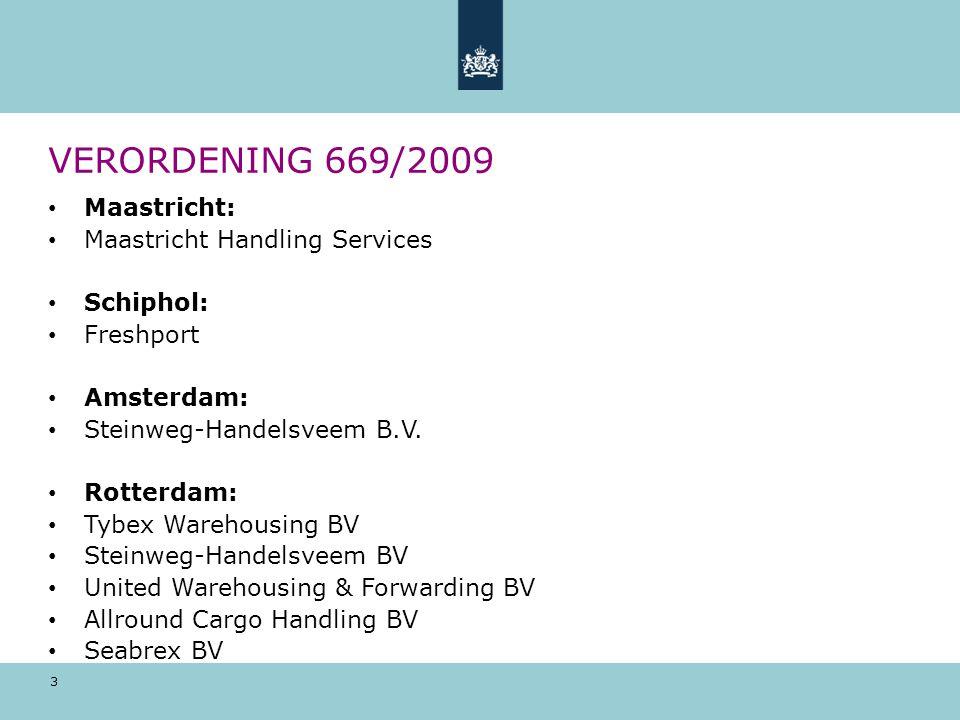 VERORDENING 669/2009 Maastricht: Maastricht Handling Services